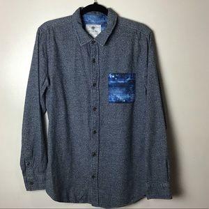 On The Byas gray l/s button up shirt. Medium